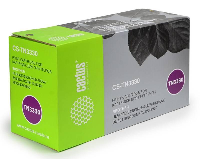 Лазерный картридж Cactus CS-TN3330 (TN-3330) черный для принтеров DCP-8110DN, DCP-8250DN, HL-5440D, HL-5450DN, HL-5450DNT, HL-5470DW, HL-6180DW, MFC-8520DN, MFC-8950DW (3000 стр.)Лазерные картриджи<br>Лазерный тонер картридж Cactus CS-TN3330 (TN-3330) создан для использования в принтерах Brother DCP-8110DN, DCP-8250DN, HL-5440D, HL-5450DN, HL-5450DNT, HL-5470DW, HL-6180DW, MFC-8520DN, MFC-8950DW<br>&amp;nbsp;<br><br>Ресурс картриджа 3000 стр.<br>&amp;nbsp;<br><br>Гарантия 12 месяцев<br>