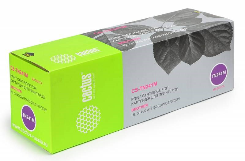Лазерный картридж Cactus CS-TN241M (TN-241M) пурпурный для принтеров HL-3140CW, HL-3150CDW, HL-3170CDW, DCP-9020CDW, MFC-9140CDN, MFC-9330CDW, MFC-9340CDW (1400 стр.)Лазерные картриджи<br>Лазерный тонер картридж Cactus CS-TN241M (TN-241M) создан для использования в принтерах Brother HL-3140CW, HL-3150CDW, HL-3170CDW, DCP-9020CDW, MFC-9140CDN, MFC-9330CDW, MFC-9340CDW<br>&amp;nbsp;<br><br>Ресурс картриджа 1400 стр.<br>&amp;nbsp;<br><br>Гарантия 12 месяцев<br>