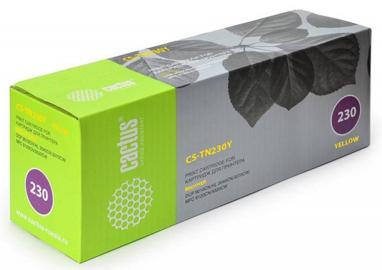 Лазерный картридж Cactus CS-TN230Y (TN-230Y) желтый для принтеров HL-3040CN, HL-3070CW, DCP-9010CN, MFC-9120CN, MFC-9320CW (1400 стр.)Лазерные картриджи<br>Лазерный тонер картридж Cactus CS-TN230Y (TN-230Y) создан для использования в принтерах Brother HL-3040CN, HL-3070CW, DCP-9010CN, MFC-9120CN, MFC-9320CWРесурс картриджа 1400 стр.Гарантия 12 месяцев<br>