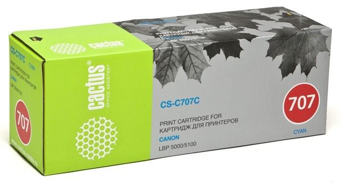Лазерный картридж Cactus CS-C707C (9423A004) голубой для Canon LBP 5000 i-Sensys Laser Shot, 5100 i-Sensys (2000 стр.)Лазерные картриджи<br><br><br>Лазерный картридж Cactus CS-C707C<br><br>Предназначен для использования в принтерах Canon LBP 5000 i-Sensys Laser Shot, 5100 i-Sensys<br><br>Страна производства - Китай<br><br>Цвет ndash; голубой<br><br>Используя картридж Cactus CS-C707C у Вас будет возможность распечатать около 2#39;000 информационных страниц (при 5% заполнении).<br><br>Гарантия на картридж Cactus CS-C707C предоставляется производителем, сроком на 12 месяцев с момента приобретения.<br><br>