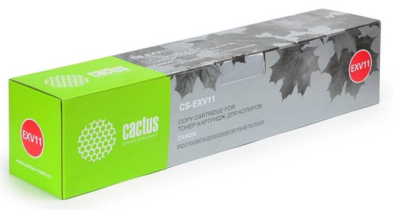 Лазерный картридж Cactus CS-EXV11 (9629A002) черный для Canon ImageRunner 2230, 2270, 2270i, 2830, 2870, 2870F, 2870i, 3025, 3025N; iR 2230, 2270, 2270i, 2830, 2870, 2870F, 2870i, 3025, 3025N, 3030, 3225, 3225N (21000 стр.)Лазерные картриджи<br><br><br>Лазерный картридж Cactus CS-EXV11<br><br>Предназначен для использования в принтерах Canon ImageRunner 2230, 2270, 2270i, 2830, 2870, 2870F, 2870i, 3025, 3025N; iR 2230, 2270, 2270i, 2830, 2870, 2870F, 2870i, 3025, 3025N, 3030, 3225, 3225N<br><br>Страна производства - Китай<br><br>Цвет ndash; черный<br><br>Используя картридж Cactus CS-EXV11nbsp;у Вас будет возможность распечатать около 21#39;000 информационных страниц (при 5% заполнении).<br><br>Гарантия на картридж Cactus CS-EXV11nbsp;предоставляется производителем, сроком на 12 месяцев с момента приобретения.<br><br>