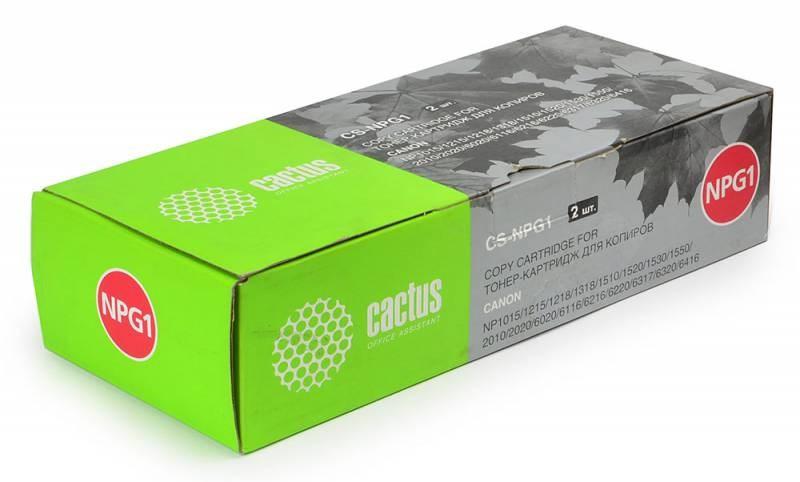 Лазерный картридж Cactus CS-NPG1 (NPG-1) черный для принтеров Canon C150, C200, NP 160, 1000, 1200, 1318, 1510, 1820, 2010, 2120, 6020, 6116, 6216, 6317, 6416, Olivetti Copia 7039, 7041, 7139, 7147, 8015, 8020, 8515, 8520, 8521, 9017, 9020 (3800 стр.)Лазерные картриджи<br>Лазерный картридж&amp;nbsp;Cactus CS-NPG1&amp;nbsp;(NPG-1). Он совместим с лазерными принтерами&amp;nbsp;Canon C150, C160, C200, C200D, NP 160, 165, 1000, 1012, 1015, 1200, 1215, 1215s, 1218, 1250, 1318, 1510, 1520, 1530, 1550, 1820, 2010, 2020, 2120, 6020, 6021, 6116, 6216, 6220, 6221, 6317, 6320, 6416, Olivetti Copia 7039, 7041, 7047, 7139, 7141, 7147, 8015, 8016, 8020, 8515, 8516, 8520, 8521, 9017, 9020.&amp;nbsp;Цвет - черный. С помощью данного картриджа Вы сможете распечатать порядка 3800 страниц текста (при 5% заполнении листа).&amp;nbsp; Cactus CS-NPG1&amp;nbsp;создан по аналогии скартриджем Canon&amp;nbsp;NPG1&amp;nbsp;(NPG-1), нисколько не уступает ему по качеству печати, но цена его значительно ниже. Это позволит Вам немного сэкономить, ничего при этом не потеряв. На тонер-картридж Cactus CS-NPG1&amp;nbsp;распространяется гарантия 1 год с момента приобретения.<br>