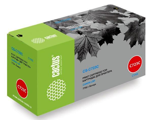 Лазерный картридж Cactus CS-C723C (№723C) голубой для принтеров Canon LBP 7750 i-Sensys, 7750cd i-Sensys, 7750Cdn i-Sensys (8500 стр.)Лазерные картриджи<br>Лазерный картридж&amp;nbsp;Cactus CS-C723C&amp;nbsp;(№723C). Он совместим с лазерными принтерами&amp;nbsp;Canon LBP 7750 i-Sensys, 7750cd i-Sensys, 7750Cdn i-Sensys.&amp;nbsp;Цвет - голубой. С помощью данного картриджа Вы сможете распечатать порядка 8500 страниц текста (при 5% заполнении листа).&amp;nbsp; Cactus CS-C723C создан по аналогии скартриджем Canon&amp;nbsp;C723C (№723C), нисколько не уступает ему по качеству печати, но цена его значительно ниже. Это позволит Вам немного сэкономить, ничего при этом не потеряв. На тонер-картридж Cactus CS-C723C&amp;nbsp;распространяется гарантия 1 год с момента приобретения.<br>