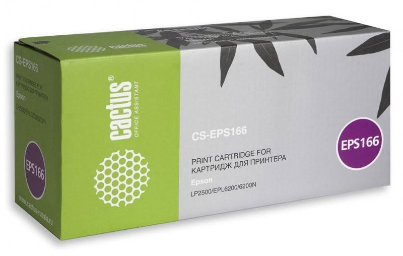 Лазерный картридж Cactus CS-EPS166 (C13S050166) черный для принтеров LP-1400, LP-2500, EPL-6200, EPL-6200L, EPL-6200N (6000 стр.)Лазерные картриджи<br>Лазерный тонер картридж Cactus CS-EPS166 (C13S050166) создан для использования в принтерах Epson LP-1400, LP-2500, EPL-6200, EPL-6200L, EPL-6200NРесурс картриджа 6000 стр.Гарантия 12 месяцев