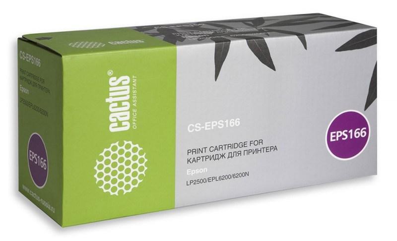 Лазерный картридж Cactus CS-EPS167 (C13S050167) черный для принтеров LP-1400, LP-2500, EPL-6200, EPL-6200L, EPL-6200N (3000 стр.)