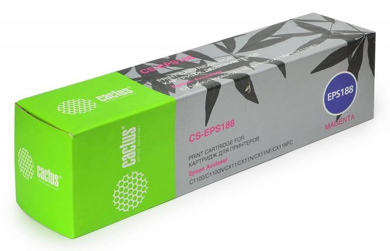 Лазерный картридж Cactus CS-EPS188 (C13S050188) пурпурный для принтеров AcuLaser C1100, C1100N, CX11, CX11N, CX11NF, CX11NFC (4000 стр.)
