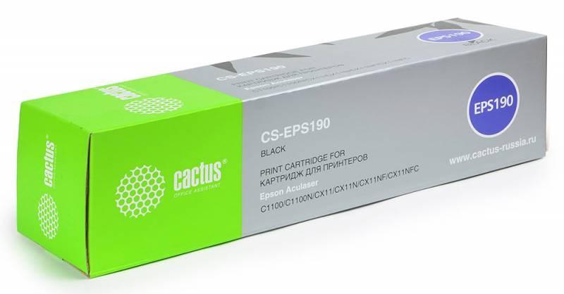Лазерный картридж Cactus CS-EPS190 (C13S050190) черный для принтеров AcuLaser C1100, C1100N, CX11, CX11N, CX11NF, CX11NFC (4000 стр.)