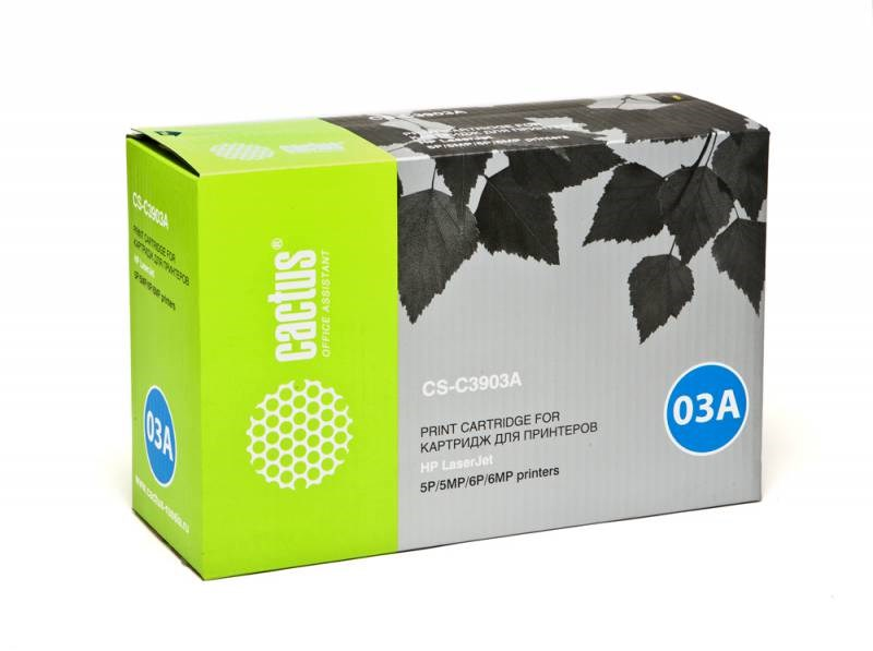 Лазерный картридж Cactus CS-C3903A (HP 03A) черный для принтеров HP LaserJet 5MP, 5P, 6MP, 6P (4000 стр.) фото