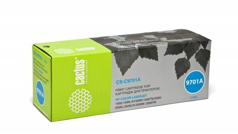 Лазерный картридж Cactus CS-C9701A (HP 121A) голубой для принтеров HP  Color LaserJet 1500, 1500L, 1500Lxi, 1500N, 1500TN, 2500, 2500L, 2500LN, 2500Lse, 2500N, 2500TN (4000 стр.)Лазерные картриджи для HP<br>Лазерный картридж&amp;nbsp;Cactus CS-C9701A&amp;nbsp;(HP 121A)?. Он совместим с лазерным принтером HP  Color LaserJet 1500, 1500L, 1500LXI, 1500N, 1500TN, 2500, 2500L, 2500LN, 2500LSE, 2500N, 2500TN&amp;nbsp;. Цвет - голубой. С помощью данного картриджа Вы сможете распечатать порядка 4000 страниц текста (при 5% заполнении листа).&amp;nbsp; Cactus CS-C9701A&amp;nbsp;создан по аналогии с картриджем Hewlett-Packard C9701A&amp;nbsp;(HP 121A), нисколько не уступает ему по качеству печати, но цена его значительно ниже. Это позволит Вам немного сэкономить, ничего при этом не потеряв. На тонер-картридж Cactus CS-C9701A&amp;nbsp;распространяется гарантия 1 год с момента приобретения.<br>