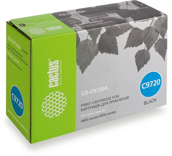 Лазерный картридж Cactus CS-C9720A (HP 641A) черный для принтеров HP  Color LaserJet 4600, 4600DN, 4600DTN, 4600HDN, 4600N, 4610, 4650, 4650DN, 4650DTN, 4650HDN, 4650N (9000 стр.)Лазерные картриджи для HP<br>Лазерный картридж&amp;nbsp;Cactus CS-C9720A&amp;nbsp;(HP 641A)?. Он совместим с лазерным принтером HP  Color LaserJet 4600, 4600DN, 4600DTN, 4600HDN, 4600N, 4610, 4650, 4650DN, 4650DTN, 4650HDN, 4650N. Цвет - черный. С помощью данного картриджа Вы сможете распечатать порядка 9000 страниц текста (при 5% заполнении листа).&amp;nbsp; Cactus CS-C9720A&amp;nbsp;&amp;nbsp;создан по аналогии с картриджем Hewlett-Packard C9720A&amp;nbsp;(HP 641A), нисколько не уступает ему по качеству печати, но цена его значительно ниже. Это позволит Вам немного сэкономить, ничего при этом не потеряв. На тонер-картридж Cactus CS-C9720A&amp;nbsp;распространяется гарантия 1 год с момента приобретения.<br>