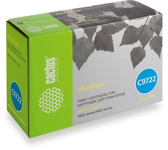 Лазерный картридж Cactus CS-C9722A (HP 641A) желтый для принтеров HP  Color LaserJet 4600, 4600DN, 4600DTN, 4600HDN, 4600N, 4610, 4650, 4650DN, 4650DTN, 4650HDN, 4650N (8000 стр.)Лазерные картриджи для HP<br>Лазерный картридж&amp;nbsp;Cactus CS-C9722A&amp;nbsp;(HP 641A)?. Он совместим с лазерным принтером HP  Color LaserJet 4600, 4600DN, 4600DTN, 4600HDN, 4600N, 4610, 4650, 4650DN, 4650DTN, 4650HDN, 4650N. Цвет - желтый. С помощью данного картриджа Вы сможете распечатать порядка 8000 страниц текста (при 5% заполнении листа).&amp;nbsp; Cactus CS-C9722A&amp;nbsp;&amp;nbsp;создан по аналогии с картриджем Hewlett-Packard C9722A&amp;nbsp;(HP 641A), нисколько не уступает ему по качеству печати, но цена его значительно ниже. Это позволит Вам немного сэкономить, ничего при этом не потеряв. На тонер-картридж Cactus CS-C9722A&amp;nbsp;распространяется гарантия 1 год с момента приобретения.<br>