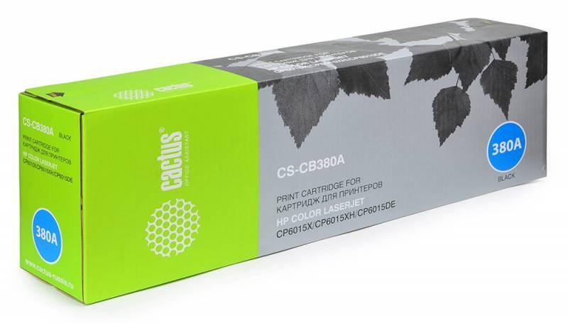 Лазерный картридж cactus cs-cb380a (hp 823a) черный для hp color laserjet cp6015, cp6015de, cp6015dn, cp6015n, cp6015x, cp6015xh (16500 стр.)