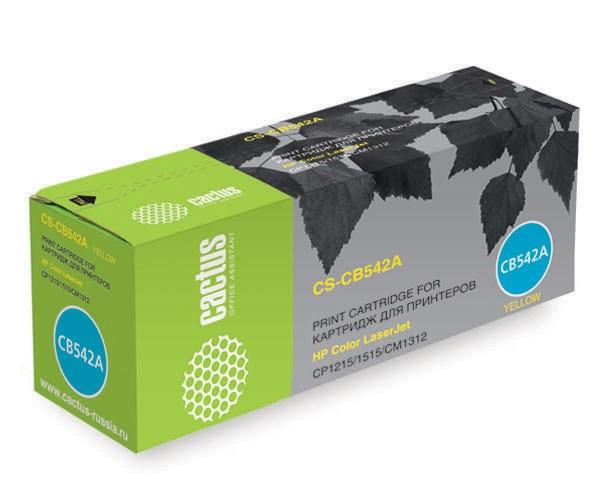 Лазерный картридж Cactus CS-CB542A (HP 125A) желтый для принтеров HP  Color LaserJet CM1312, CM1312nfi, CP1210 series, CP1215, CP1217, CP1510 series, CP1515, CP1515n, CP1518, CP1518ni (1400 стр.)Лазерные картриджи для HP<br>Лазерный картридж&amp;nbsp;Cactus CS-CB542A&amp;nbsp;(HP 125A)?. Он совместим с лазерным принтером HP LaserJet CM1312, CM1312NFI, CP1210 SERIES, CP1215, CP1217, CP1510 SERIES, CP1515, CP1515N, CP1518, CP1518NI. Цвет - желтый. С помощью данного картриджа Вы сможете распечатать порядка 1400 страниц текста (при 5% заполнении листа).&amp;nbsp; Cactus CS-CB542A&amp;nbsp;создан по аналогии с картриджем Hewlett-Packard CB542A&amp;nbsp;(HP 125A), нисколько не уступает ему по качеству печати, но цена его значительно ниже. Это позволит Вам немного сэкономить, ничего при этом не потеряв. На тонер-картридж Cactus CS-CB542A&amp;nbsp;распространяется гарантия 1 год с момента приобретения.<br>