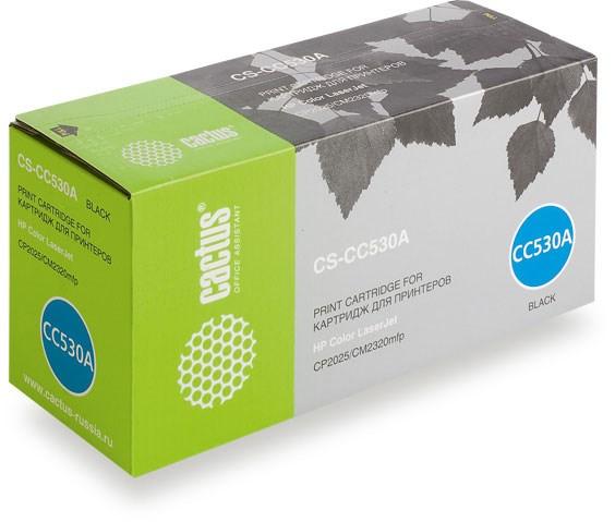 Лазерный картридж Cactus CS-CC530A (HP 304A) черный для HP Color LaserJet CM2320 MFP, CM2320fxi (CC435A), CM2320n, CM2320nf (CC436A), CP2020 series, CP2025 (CB493A), CP2025dn (CB495A), CP2025n (CB494A), CP2025x (3'500 стр.) фото