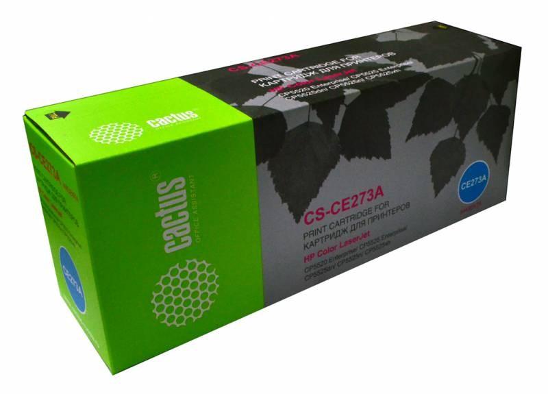 Лазерный картридж Cactus CS-CE273A (HP 650A) пурпурный для HP Color LaserJet CP5520, CP5525, CP5525dn, CP5525n, CP5525xh, M750dn, M750n (15000 стр.)Лазерные картриджи для HP<br><br><br>Лазерный картридж Cactus CS-CE273Anbsp;<br><br>Предназначен для использования в принтерах HP Color LaserJet CP5520 Enterprise, CP5525 Enterprise, CP5525dn, CP5525n, CP5525xh, M750dn Enterprise D3L09A, M750n Enterprise D3L08A, M750xh Enterprise D3L10A<br><br>Страна производства - Китай<br><br>Цвет ndash; пурпурный<br><br>Используя картридж Cactus CS-CE273A у Вас будет возможность распечатать около 15#39;000 информационных страниц (при 5% заполнении).<br><br>Гарантия на картридж Cactus CS-CE273A предоставляется производителем, сроком на 12 месяцев с момента приобретения.<br><br>