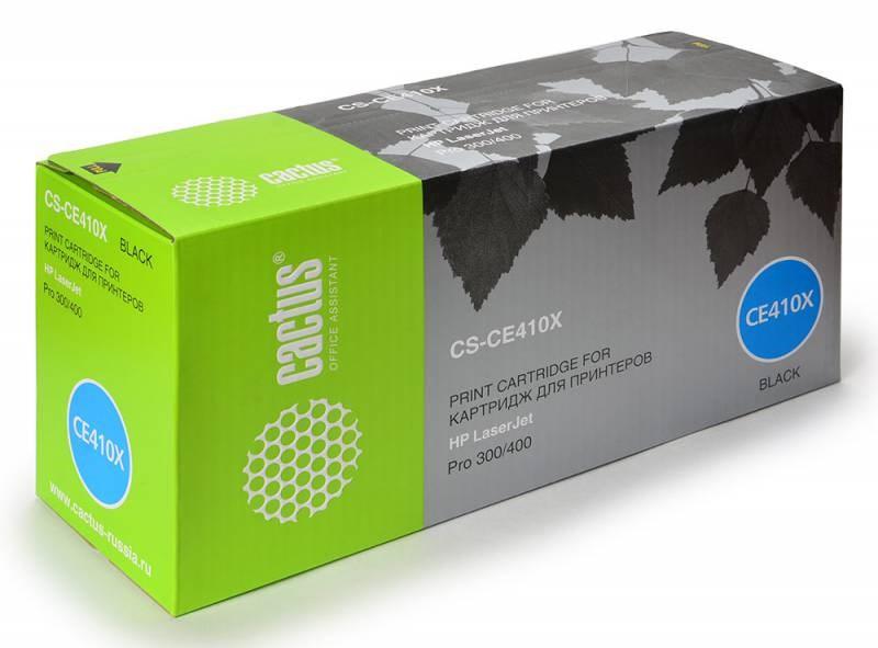 Лазерный картридж Cactus CS-CE410X(HP 305X) черный увеличенной емкости для HP Color LaserJet M351, M351a Pro, M375, M375nw MFP M451, M451dn M451dw M451nw M475, M475dn M475dw Pro (4'000 стр.)