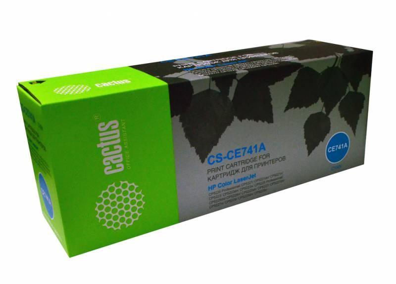 Лазерный картридж Cactus CS-CE741A (HP 307A) голубой для принтеров HP  Color LaserJet CP5220 PROFESSIONAL, CP5221, CP5223, CP5225 PROFESSIONAL, CP5225DN, CP5225SN, CP5227, CP5229 (7300 СТР.)Лазерные картриджи для HP<br>Лазерный картридж&amp;nbsp;Cactus CS-CE741A&amp;nbsp;(HP 307A)?. Он совместим с лазерным принтером HP LaserJet CP5220 Professional, CP5221, CP5221DN, CP5221N, CP5223, CP5223DN, CP5223N, CP5225 Professional, CP5225DN, CP5225N, CP5225Xh, CP5227, CP5227DN, CP5227N, CP5229, CP5229DN, CP5229N. Цвет - голубой. С помощью данного картриджа Вы сможете распечатать порядка 7300 страниц текста (при 5% заполнении листа).&amp;nbsp; Cactus CS-CE741A&amp;nbsp;создан по аналогии скартриджем Hewlett-Packard CE741A&amp;nbsp;(HP 307A), нисколько не уступает ему по качеству печати, но цена его значительно ниже. Это позволит Вам немного сэкономить, ничего при этом не потеряв. На тонер-картридж Cactus CS-CE741A&amp;nbsp;распространяется гарантия 1 год с момента приобретения.<br>