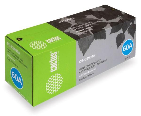 Лазерный картридж Cactus CS-Q3960A (HP 122A) черный для HP Color LaserJet 2550, 2550L, 2550LN, 2550N, 2820, 2830, 2840 (5'000 стр.)