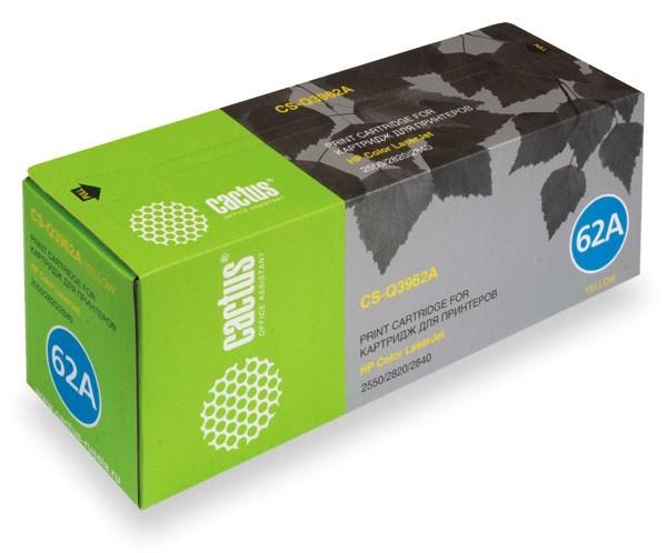 Лазерный картридж Cactus CS-Q3962A (HP 122A) желтый для HP Color LaserJet 2550, 2550L, 2550LN, 2550N, 2820, 2830, 2840 (4'000 стр.)