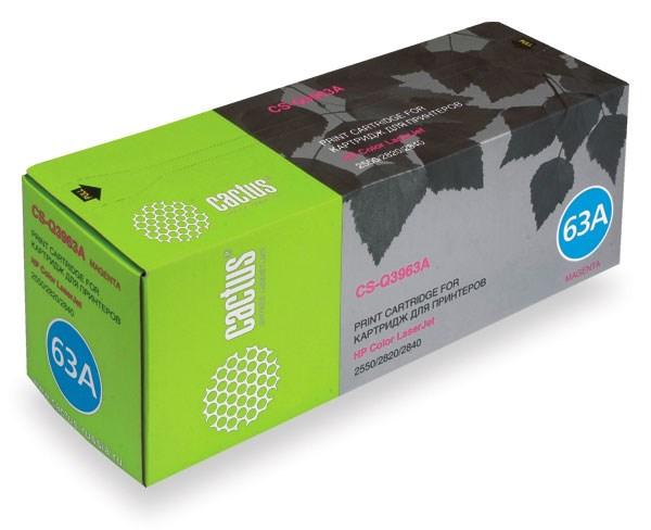 Лазерный картридж Cactus CS-Q3963A (HP 122A) пурпурный для HP Color LaserJet 2550, 2550L, 2550LN, 2550N, 2820, 2830, 2840 (4'000 стр.)
