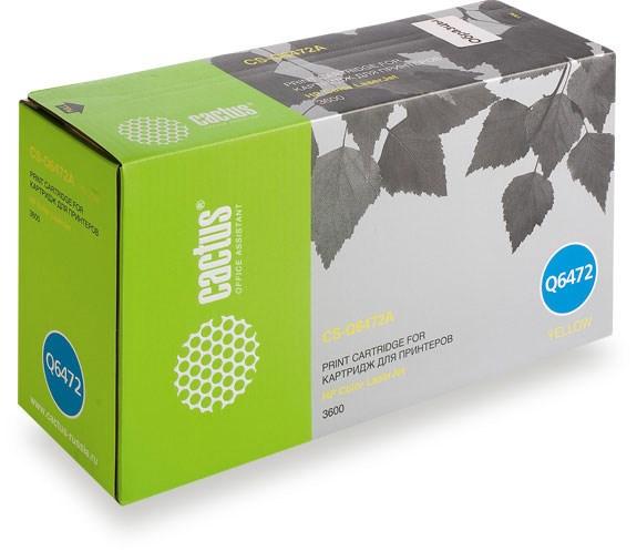 Лазерный картридж Cactus CS-Q6472A (HP 502A) желтый для HP Color LaserJet 3600, 3600DN, 3600N (4000 стр.)Лазерные картриджи для HP<br><br><br>Лазерный картридж Cactus CS-Q6472Anbsp;<br><br>Предназначен для использования в принтерах HP Color LaserJet 3600, 3600DN, 3600Nnbsp;<br><br>Страна производства - Китай<br><br>Цвет ndash; желтый<br><br>Используя картридж Cactus CS-Q6472A у Вас будет возможность распечатать около 4#39;000 информационных страниц (при 5% заполнении).<br><br>Гарантия на картридж Cactus CS-Q6472A предоставляется производителем, сроком на 12 месяцев с момента приобретения.<br><br>
