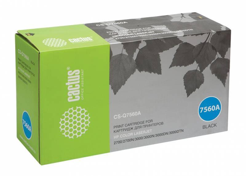 Лазерный картридж Cactus CS-Q7560A (HP 314A) черный для принтеров HP  Color LaserJet 2700, 2700N, 3000, 3000DN, 3000DTN, 3000N (6500 стр.)Лазерные картриджи для HP<br>Лазерный картридж&amp;nbsp;Cactus CS-Q7560A&amp;nbsp;(HP 314A)?. Он совместим с лазерным принтером HP  Color LaserJet M1120 2700, 2700N, 3000, 3000DN, 3000DTN, 3000N. Цвет - черный. С помощью данного картриджа Вы сможете распечатать порядка 6500 страниц текста (при 5% заполнении листа).&amp;nbsp; Cactus CS-Q7560A&amp;nbsp;создан по аналогии с картриджем Hewlett-Packard Q7560A&amp;nbsp;(HP 314A), нисколько не уступает ему по качеству печати, но цена его значительно ниже. Это позволит Вам немного сэкономить, ничего при этом не потеряв. На тонер-картридж Cactus CS-Q7560A&amp;nbsp;распространяется гарантия 1 год с момента приобретения.<br>