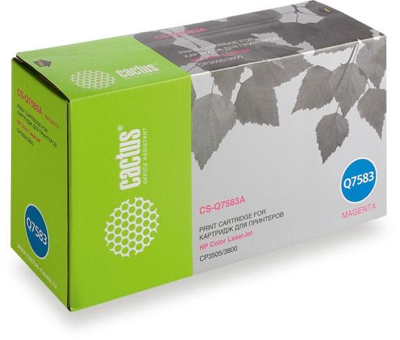 Лазерный картридж Cactus CS-Q7583A (HP 503A) пурпурный для принтеров HP  Color LaserJet 3800, 3800DN, 3800DTN, 3800N, CP3505, CP3505dn, CP3505n, CP3505x (6000 стр.)Лазерные картриджи для HP<br>Лазерный картридж&amp;nbsp;Cactus CS-Q7583A&amp;nbsp;(HP 503A)?. Он совместим с лазерным принтером HP  Color LaserJet 3800, 3800DN, 3800DTN, 3800N, CP3505, CP3505DN, CP3505N, CP3505X. Цвет - пурпурный. С помощью данного картриджа Вы сможете распечатать порядка 6000 страниц текста (при 5% заполнении листа).&amp;nbsp; Cactus CS-Q7583A&amp;nbsp;создан по аналогии с картриджем Hewlett-Packard Q7583A&amp;nbsp;(HP 503A), нисколько не уступает ему по качеству печати, но цена его значительно ниже. Это позволит Вам немного сэкономить, ничего при этом не потеряв. На тонер-картридж Cactus CS-Q7583A&amp;nbsp;распространяется гарантия 1 год с момента приобретения.<br>