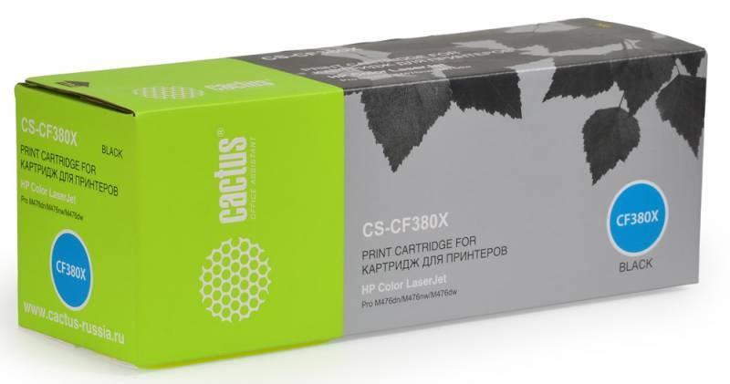 Лазерный картридж Cactus CS-CF380X (HP 312X) черный увеличенной емкости для HP Color LaserJet M476 (Pro MFP series), M476dn, M476dw, M476nw (4'400 стр.)