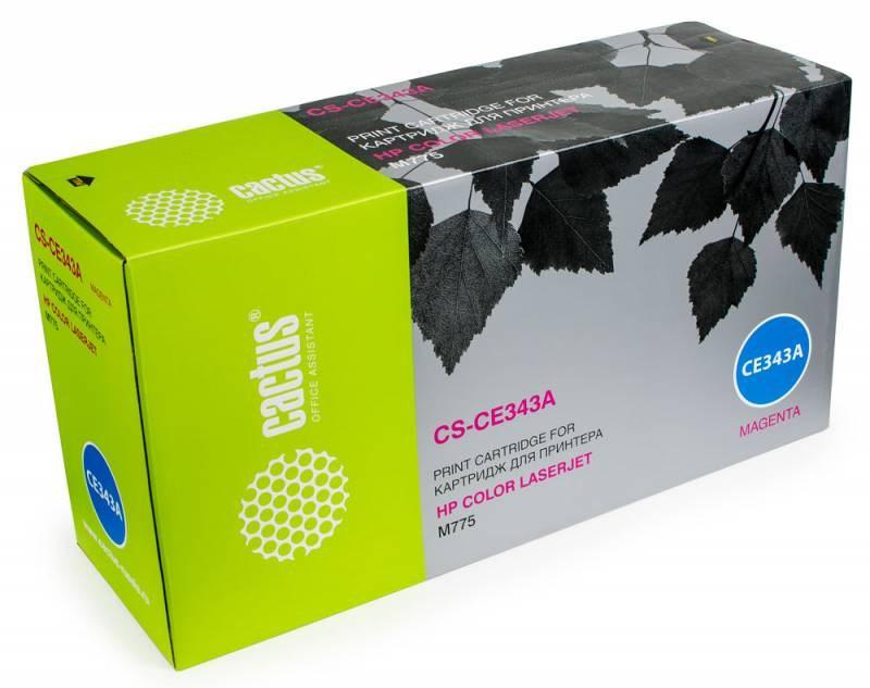 Лазерный картридж Cactus CS-CE343A (HP 651A) пурпурный для принтеров HP  Color LaserJet M775 (Enterprise 700 color), M775dn MFP, M775f MFP, M775z MFP, M775zplus MFP (16000 стр.)Лазерные картриджи для HP<br>Лазерный картриджnbsp;Cactus CS-CE343Anbsp;(HP 651A). Он совместим с лазерным принтером HP Colornbsp;LaserJet M775 (ENTERPRISE 700 COLOR), M775DN MFP, M775F MFP, M775Z MFP, M775ZPLUS MFPnbsp;. Цвет - пурпурный. С помощью данного картриджа Вы сможете распечатать порядка 16000 страниц текста (при 5% заполнении листа).nbsp; Cactus CS-CE343Anbsp;создан по аналогии скартриджем Hewlett-Packard CE343Anbsp;(HP 651A), нисколько не уступает ему по качеству печати, но цена его значительно ниже. Это позволит Вам немного сэкономить, ничего при этом не потеряв. На тонер-картридж Cactus CS-CE343Anbsp;распространяется гарантия 1 год с момента приобретения.