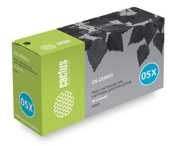 Лазерный картридж Cactus CS-CE505XS(HP 05X) черный увеличенной емкости для HP LaserJet P2050, P2055, P2055d, P2055dn, P2055x (6'500 стр.) фото