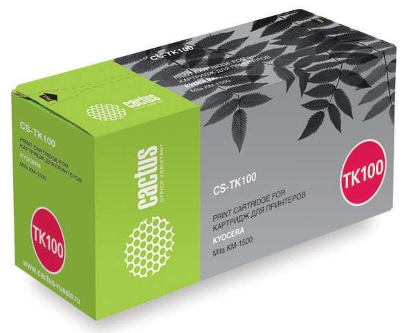 Лазерный картридж Cactus CS-TK100 (Mita TK-100) черный для принтеров Kyocera Mita KM 1500, Utax-CD1315 (6000 стр.)Картриджи для Kyocera<br>Лазерный тонер картридж Cactus CS-TK100 (Mita TK-100) создан для использования в принтерах Kyocera Mita KM 1500, Utax - CD1315Ресурс картриджа 6000 страницГарантия 12 месяцев<br>