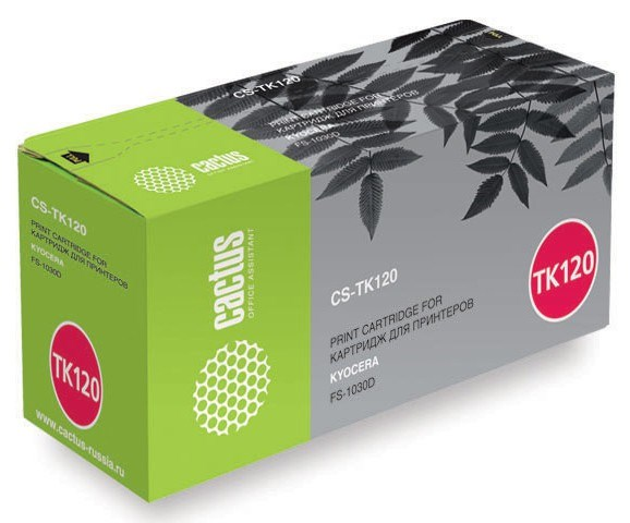 Лазерный картридж Cactus CS-TK120 (TK-120) черный для принтеров Kyocera Mita FS1030, 1030d, 1030dn (7'200 стр.) фото