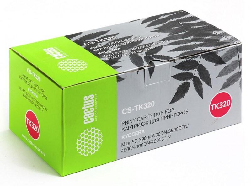Лазерный картридж Cactus CS-TK320 (TK-320) черный для принтеров Kyocera Mita FS 3900, 3900dn, 3900dtn, 4000, 4000dn, 4000dtn (15'000 стр.) 690218