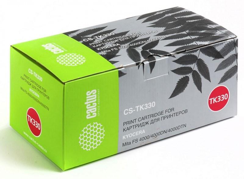 Лазерный картридж Cactus CS-TK330 (Mita TK-330) черный для принтеров Kyocera Mita FS 4000, 4000DN, 4000DTN (20000 стр.)Картриджи для Kyocera<br>Лазерный тонер картридж Cactus CS-TK330 (Mita TK-330) создан для использования в принтерах Kyocera Mita FS 4000, 4000DN, 4000DTNРесурс картриджа 20000 страницГарантия 12 месяцев<br>