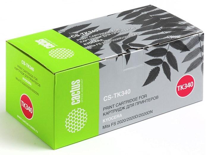 Лазерный картридж Cactus CS-TK340 (TK-340) черный для принтеров Kyocera Mita FS 2020, 2020d, 2020dn (12'000 стр.) фото