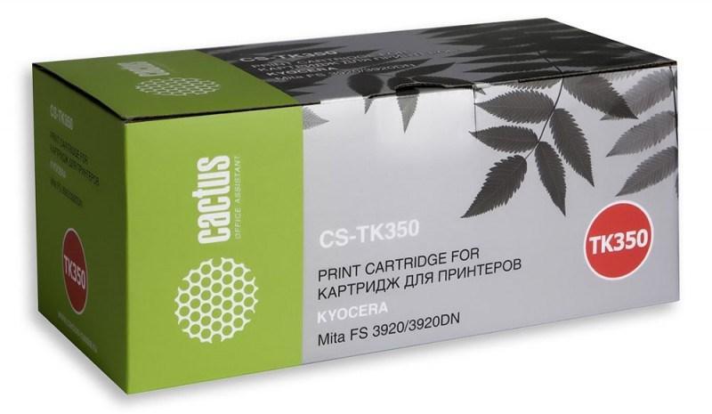 Лазерный картридж Cactus CS-TK350 (Mita TK-350) черный для принтеров Kyocera Mita FS 3040, 3040MFP, 3040MFP+, 3140, 3140MFP, 3140MFP+, 3540, 3540MFP, 3640, 3640MFP, 3920, 3920DN (15000 стр.)Картриджи для Kyocera<br>Лазерный тонер картридж Cactus CS-TK350 (Mita TK-350) создан для использования в принтерах Kyocera Mita FS 3040, 3040MFP, 3040MFP+, 3140, 3140MFP, 3140MFP+, 3540, 3540MFP, 3640, 3640MFP, 3920, 3920DN<br>&amp;nbsp;<br><br>Ресурс картриджа 15000 страниц<br>&amp;nbsp;<br><br>Гарантия 12 месяцев<br>