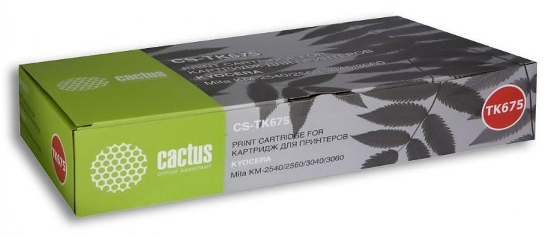 Лазерный картридж Cactus CS-TK675 (Mita TK-675) черный для принтеров Kyocera Mita KM 2540, 2560, 3040, 3060 (20000 стр.)