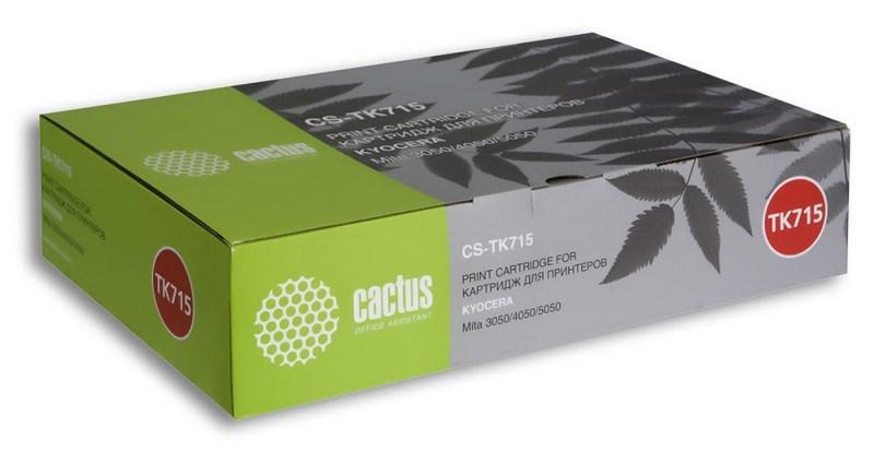 Лазерный картридж Cactus CS-TK715 (Mita TK-715) черный для принтеров Kyocera Mita KM: 3050, 4050, 5050, Utax: CD1230, CD1240, CD1250 (34000 стр.)