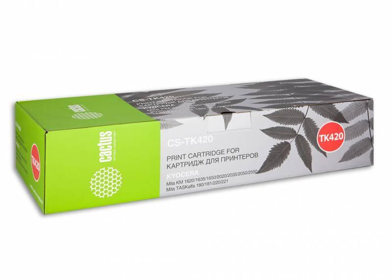 Лазерный картридж Cactus CS-TK420 (Mita TK-420) черный для принтеров Kyocera Mita KM 2550, 2550F, 2550S, Olivetti d-Copia 250MF, Utax CD1125 (15000 стр.)Картриджи для Kyocera<br>Лазерный тонер картридж Cactus CS-TK420 (Mita TK-420) создан для использования в принтерах Kyocera Mita KM 2550, 2550F, 2550S, Olivetti d-Copia 250MF, Utax - CD1125Ресурс картриджа 15000 страницГарантия 12 месяцев<br>