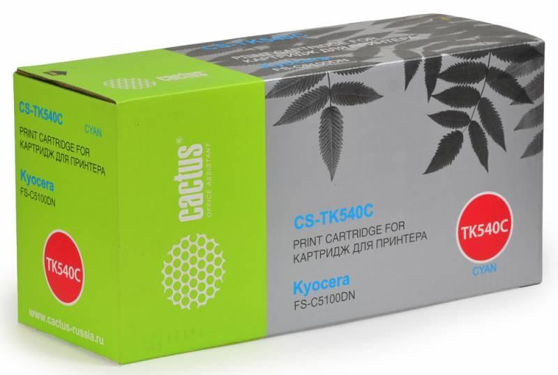 Лазерный картридж Cactus CS-TK540С (Mita TK-540C) голубой для принтеров Kyocera Mita FS C5100, C5100DN (4000 стр.)Картриджи для Kyocera<br>Лазерный тонер картридж Cactus CS-TK540С (Mita TK-540C) создан для использования в принтерах Kyocera Mita FS C5100, C5100DN<br>&amp;nbsp;<br><br>Ресурс картриджа 4000 страниц<br>&amp;nbsp;<br><br>Гарантия 12 месяцев<br>