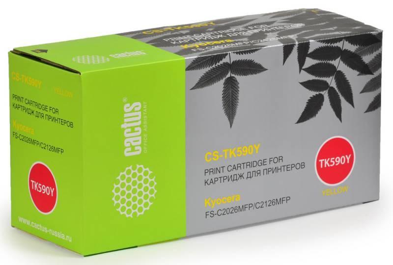 Лазерный картридж cactus cs-tk590y (mita tk-590y) желтый для