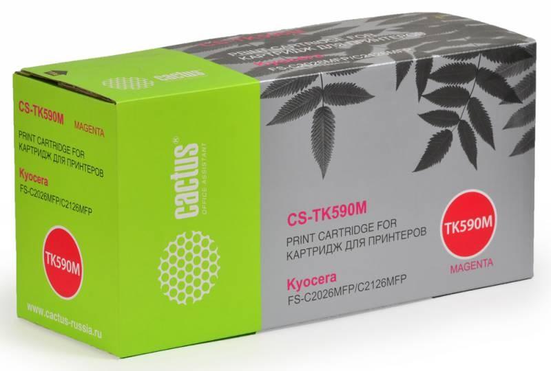 Лазерный картридж Cactus CS-TK590M (TK-590M) пурпурный для принтеров Kyocera Mita Ecosys M6026, M6026cdn, M6026cidn, M6526, M6526cdn, M6526cidn, P6026cdn, FS C2026, FS C2126, FS C2526 MFP, FS C2626 MFP, FS C5250 (5'000 стр.) фото