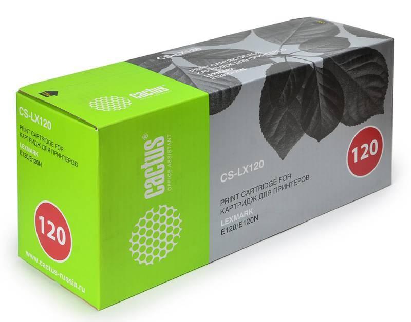 Лазерный картридж Cactus CS-LX120 (12016SE, 12036SE) черныый для принтеров Lexmark Optra E120, E120N (2000 стр.)Лазерные картриджи<br>Лазерный тонер картридж Cactus CS-LX120 (12016SE, 12036SE) создан для использования в принтерах Lexmark Optra E120, E120N<br>&amp;nbsp;<br><br>Ресурс картриджа 2000 страниц<br>&amp;nbsp;<br><br>Гарантия 12 месяцев<br>