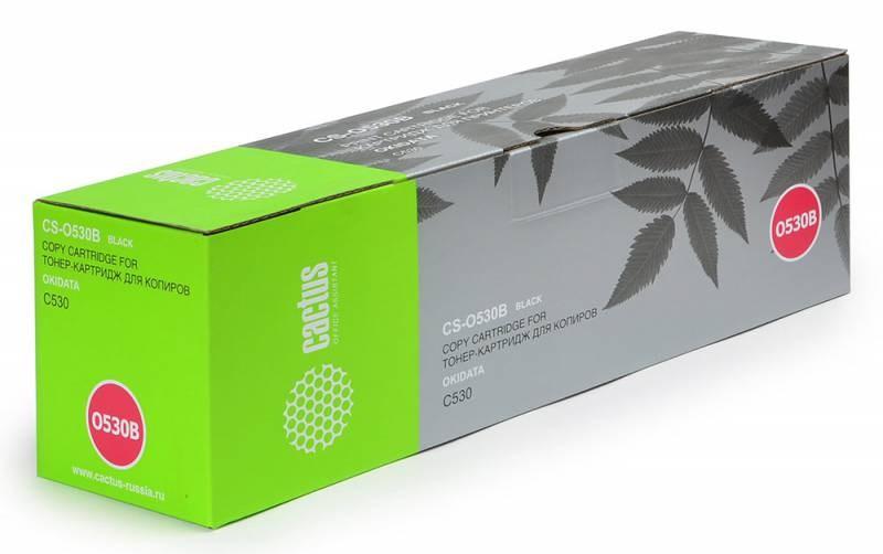 Лазерный картридж Cactus CS-O530BK (44469810) черный для принтеров Oki C 510, 510dn, 530, 530dn, MC 561, 561dn (5000 стр.)Картриджи для OKI<br>Лазерный тонер картридж Cactus CS-O530BK (44469810) создан для использования в принтерах Oki C 510, 510dn, 530, 530dn, MC 561, 561dn<br>&amp;nbsp;<br><br>Ресурс картриджа 5000 страниц<br>&amp;nbsp;<br><br>Гарантия 12 месяцев<br>