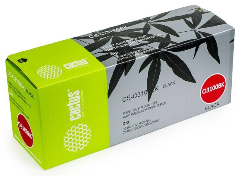 Лазерный картридж Cactus CS-O3100BK (42127491) черный для принтеров Oki C 5100, 5100N, 5200, 5200N, 5300, 5300DN, 5300N, 5400, 5400DN, 5400DTN, 5400N, 5400TN, MB-7012 (5000 стр.)Картриджи для OKI<br>Лазерный тонер картридж Cactus CS-O3100BK (42127491) создан для использования в принтерах Oki C 5100, 5100N, 5200, 5200N, 5300, 5300DN, 5300N, 5400, 5400DN, 5400DTN, 5400N, 5400TN, MB - 7012Ресурс картриджа 5000 страницГарантия 12 месяцев<br>