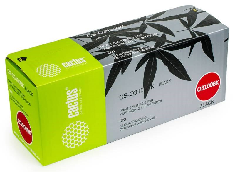 Лазерный картридж Cactus CS-O3100BK (42127491) черный для принтеров Oki C 5100, 5100N, 5200, 5200N, 5300, 5300DN, 5300N, 5400, 5400DN, 5400DTN, 5400N, 5400TN, MB-7012 (5'000 стр.) фото