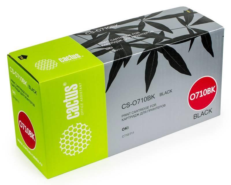 Лазерный картридж Cactus CS-O710BK (44318608) черный для принтеров OKI C710, С711 (11000 стр.)Картриджи для OKI<br>Лазерный тонер картридж Cactus CS-O710BK (44318608) создан для использования в принтерах OKI C710, С711Ресурс картриджа 11000 страницГарантия 12 месяцев<br>
