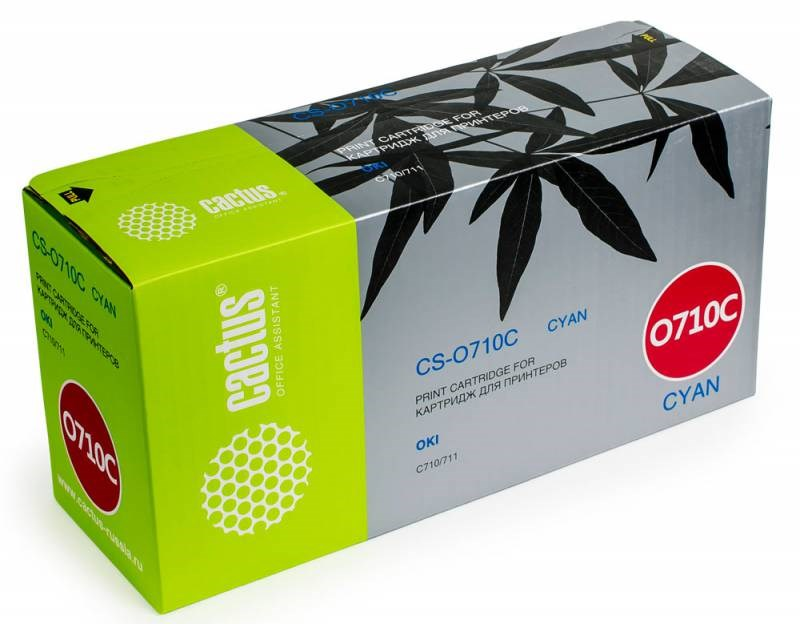 Лазерный картридж Cactus CS-O710C (44318607) голубой для принтеров OKI C710, С711 (11500 стр.)Картриджи для OKI<br>Лазерный тонер картридж Cactus CS-O710C (44318607) создан для использования в принтерах OKI C710, С711Ресурс картриджа 11500 страницГарантия 12 месяцев