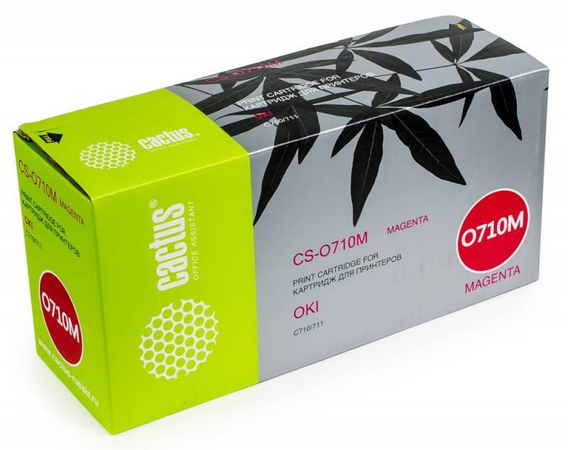 Лазерный картридж Cactus CS-O710M (44318606) пурпурный для принтеров OKI C710, С711 (11500 стр.)Картриджи для OKI<br>Лазерный тонер картридж Cactus CS-O710M (44318606) создан для использования в принтерах OKI C710, С711Ресурс картриджа 11500 страницГарантия 12 месяцев<br>