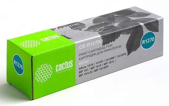 Лазерный картридж Cactus CS-R1270D (Type 1270D) черный для принтеров Ricoh Aficio 1515, 1515F, 1515MF, 1515PS, MP 161, 161F, 161L, 161LN, 171, 171F, 171L, 171SPF, 161SPF, Gestetner Docustation DSM 415, 415F, 415P, 415PF